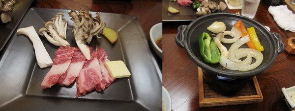 龍洞 夕食 ステーキ