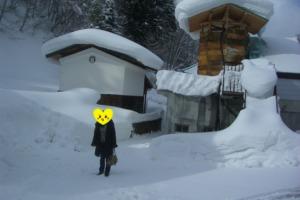 龍洞 大雪