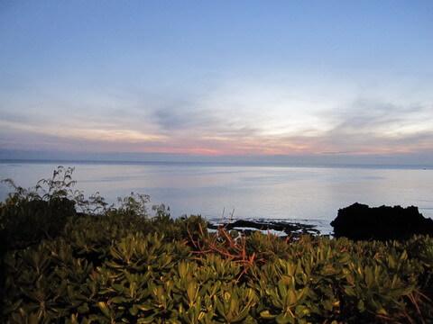プリシアリゾート アネリアテラス席からの夕陽