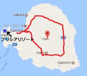 ヨロン島 バス路線図