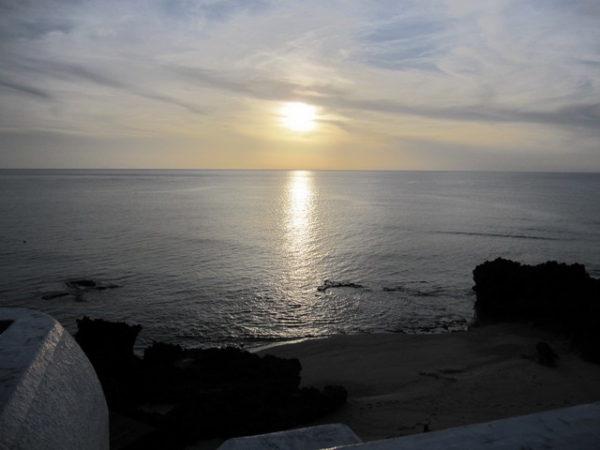 プリシアリゾートから見える夕陽