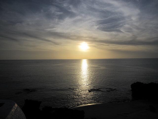 プリシアリゾートの夕陽