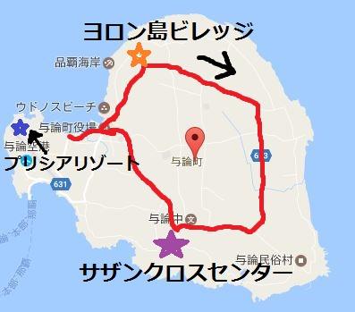 ヨロン島バス路線地図