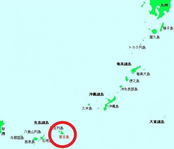 宮古島周辺 地図