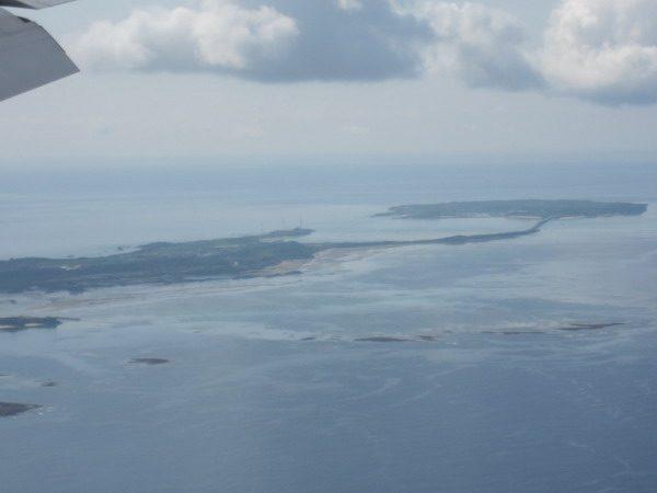 空から見た池間島