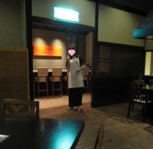 宮古島東急ホテル 鉄板焼の室内