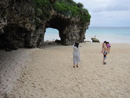 砂山 天然岩のアーチ
