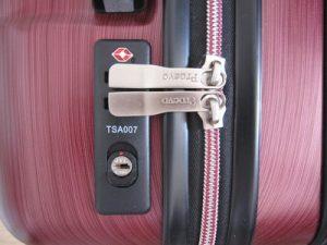 キャリーバッグの鍵