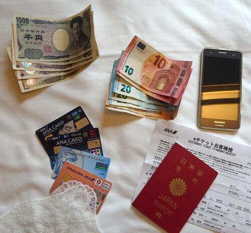 海外旅行中の貴重品
