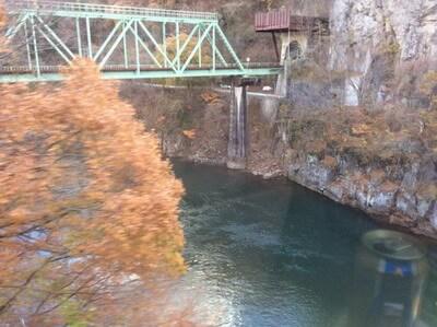 上越線 車窓 利根川と橋