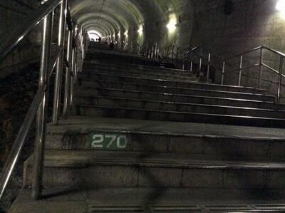 土合駅 階段の番号