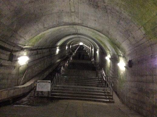 土合駅 階段手前