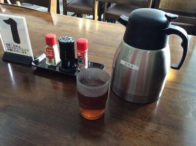 谷川岳ドライブインのお茶