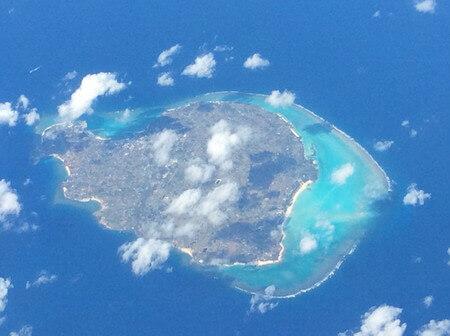 空から見た石垣島
