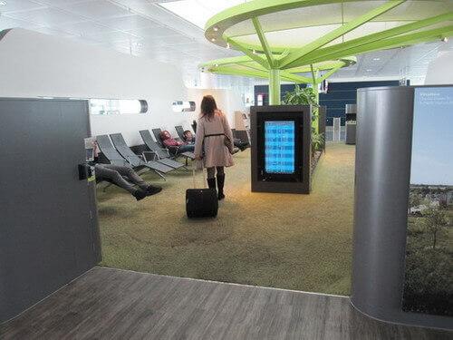 ミュンヘン空港の休憩エリア